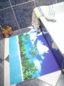 "Super Absorbent Bathmat 50x75 cm. ""PARADISE"""