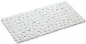 Spirella 1014782 Pebble Bath Mat 75 x 36 cm White