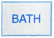 """Bath"" Design Turtle Mat Multi-Grip for all floors 60x85cm"