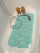 Safety Bathmat with Massage Knobs - 72x36n cms - Aqua Blue