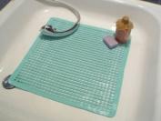 Safety Showermat with Massage Knobs - 52 x 52 cms Aqua blue