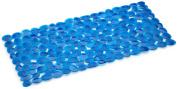 Spirella 1014779 Pebble Bath Mat 75 x 36 cm Clear Blue
