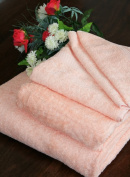 Homescapes Turkish Cotton Bath Towel Peach Very Soft and Absorbent, 500 GSM Heavy Weight for everyday Luxury