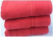 Egyptian Cotton Luxury Bathroom Towels 640g/m2 Bath Towel 70x130 cm approx. Red