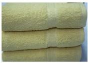 Egyptian Cotton Luxury Bathroom Towels 640g/m2 Bath Towel 70x130 cm approx. Yellow