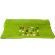Aneesi 70 x 140 cm Embroidered Pebbles Bath Towel, Green