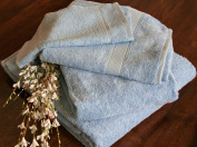 Homescapes Turkish Cotton Bath Towel Light Blue Very Soft and Absorbent, 500 GSM Heavy Weight for everyday Luxury