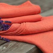 Set of 2 Tangerine Linen Hand Towels Lara
