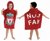 Liverpool FC Football Hooded Poncho Beach Towel Velour Beach / Bath Towel- Linenstowels2011