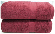 Burgundy Towels Bale 4 PC 2x Hand Towels 2x Bath Towels Egyptian Cotton Towels 600 gsm