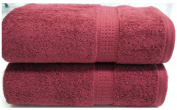 Burgundy Towels Bale 4 PC 2x Hand Towels 2x Bath Towels Egyptian Cotton Towels 600 gsm