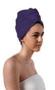 Spa Days Luxury Turbie Twist Hair Towel, Purple, Absorbent, Lightweight and Cotton