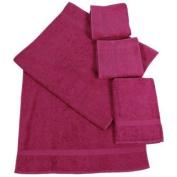 Dyckhoff 900536669 2x Hand Towels 100 x 50 cm and 2x Bath Towels 140 x 70 cm Raspberry