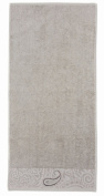 Möve Pima Luxe 104113529823_50100 Hand Towel with. Elements 50 x 100 cm Plain Silver / Grey