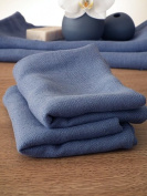 Set of 2 Chambray Linen Guest Towels Lara