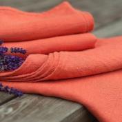 Set of 2 Tangerine Linen Guest Towels Lara