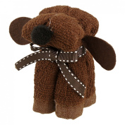 Wedding Party Favour Bowknot Puppy Dog Towel Coffee Colour