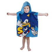 Sonic The Hedghog 'Sprint' Poncho Character 100% Cotton