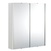 Premier VTY052 White Mirror Cabinet with Two Doors, Bathroom