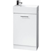 White Compact Cabinet and Basin