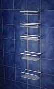 Satina Chrome 5 Tier Large Shower Caddy