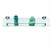 Axxentia Bad 282101 Corner Shelf 50x14 cm with Chrome-Plated Railing and Glass Base