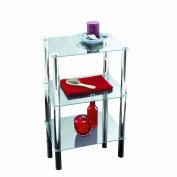 Axxentia Bathroom 282130 Standing Shelf Solanio Chrome with 3 Glass Shelves 40 x 30 x 77 cm
