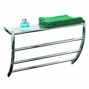 Axxentia Bathroom 282112 Hanka Wall Shelf Chrome witt 3 Bars and Shelf for Hand Towels 56 x 23 x 43 cm
