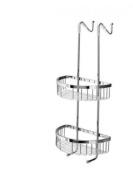 Filo double shelf basket for shower