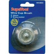 Rotary Steel Wire Cup Brush Wheel 50mm Brass Coated Shank Rust Weld Prep