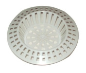 2 X White Plastic Sink Strainer filter Size Small Or Large