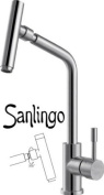 Kitchen Sink Mixer - real brushed Stainless Steel 100% - from Sanlingo