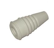 Small Rubber Tap Swirl Nozzle Off White 6.5cm Long