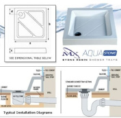 MX Classic Square Flat Top GEL Stone Resin Shower Tray 1200x1200mm