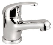 BATHROOM BASIN MIXER TAP CHROME-PLATED + SINK CLICK CLACK WASTE + instal SET