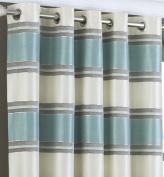 Horizon Duck Egg Faux Silk Ring Top Curtains 229 x 229