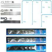 Shower Curtain Rail/Rod, 4 way use,L Shape ,U shape in white (White)