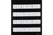 Opportunity 11K100200070 Shower Curtain Polyethylene Vinyl Acetate Black / White