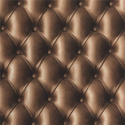 Chocolate Brown - 888803 - Leather Headboard Effect - Muriva Wallpaper