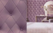 Galerie Illusions Feature Wallpaper Leather Headboard Effect Purple LL29573