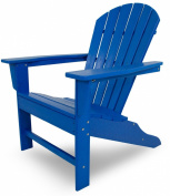 CASA BRUNO South Beach Adirondack Chair made of recycled Polywood® HDPE lumber, pacific blue - unconditionally weather-resistant