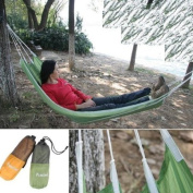 Green Nylon Hammock Waterproof All Weather Outdoors Camping