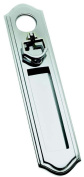 Polished Chrome Vertical Letter Plate / Flap with Door Pull