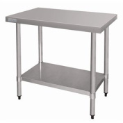 Vogue Stainless Steel Prep Table - Without Upstand. 900mm wide.