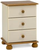 Steens Richmond Bedside Cabinet, Cream