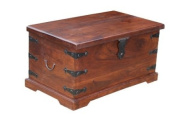 Homescapes - Takhat - Blanket Box - 100% solid Indian Sheesham Hardwood Furniture ( no veneer ) Hand Made using traditional techniques
