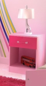 Bedside Cabinet in Two Tone Pink High Gloss