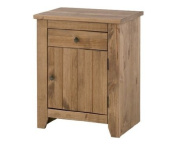 Havana Bedside Cabinet Solid Pine with 1 Drawer and 1 Door