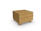 Jitona Jazz 1-Drawer Bedside Chest, Oak