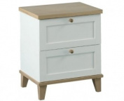 LPD Furniture Boston 2 Drawer Bedside Cabinet